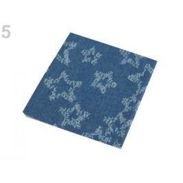 Nažehlovacie záplaty riflové 17x43 cm modrá tm. 2ks Stoklasa