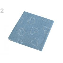 Nažehlovacie záplaty riflové 17x43 cm modrá jeans 50ks Stoklasa