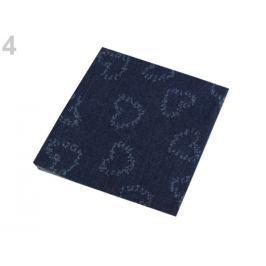 Nažehlovacie záplaty riflové 17x43 cm jeans žihaný 50ks Stoklasa