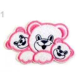 Nažehlovačka medvedíkovia ružová detská 50ks Stoklasa