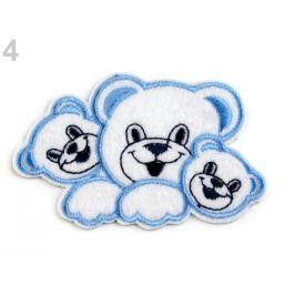 Nažehlovačka medvedíkovia modrá nebeská 50ks Stoklasa