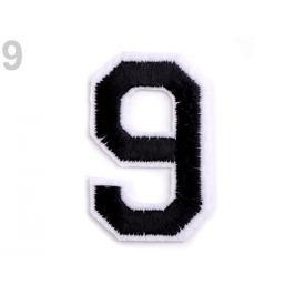 Nažehlovačka čísla čierna 1ks Stoklasa