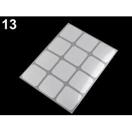 Reflexné nažehlovačky 9x12 cm šedá perlovo 20sáčok
