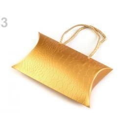 Darčeková krabička metalická zlatá 120ks Stoklasa