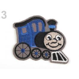 Nažehlovačka lokomotiva modrá safírová 120ks Stoklasa