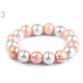 Pružný perlový náramok ružová lastúrová 1ks Stoklasa