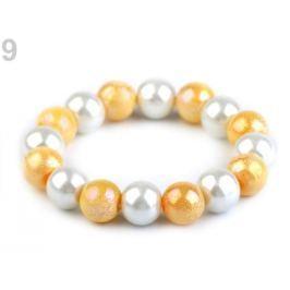 Pružný perlový náramok žltá 1ks Stoklasa