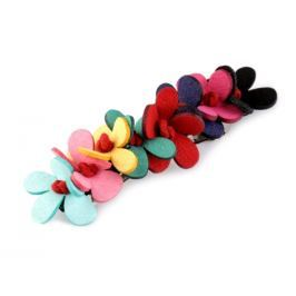 Francúzska spona do vlasov s kvetmi multikolor 3ks Stoklasa