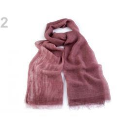 Hodvábna šatka 75x210 cm ružová rubínová 10ks Stoklasa