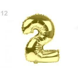 Nafukovací číslice zlatá 40ks Stoklasa