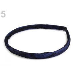 Saténová čelenka do vlasov s čipkou modrá parížska 36ks Stoklasa