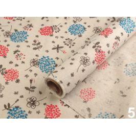 Dekoračná látka šírka 48 cm s potlačou režná príodná 4m Stoklasa