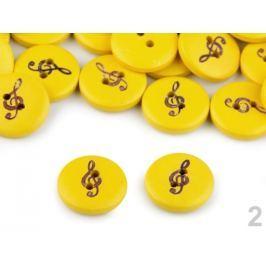Drevený gombík huslový kľúč veľkosť 28