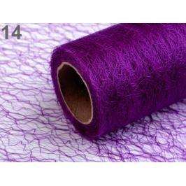 Pavučinka dekoračná šírka 30 cm dĺžka 9 m fialová purpura 90m Stoklasa
