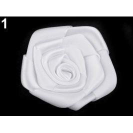 Saténová ruža Ø50 mm White 10ks Stoklasa