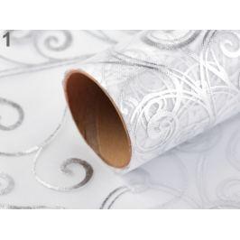 Organza svadobná s potlačou šírka 36 cm biela 81m Stoklasa
