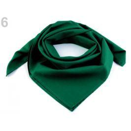 Bavlnená šatka jednofarebná 65x65 cm zelená piniová 1ks