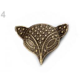 Kovový odznak staromosadz 6ks Stoklasa