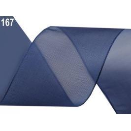 Monofilová stuha zväzky po 5 m šírka 40 mm modrá berlínska 5m Stoklasa
