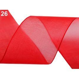 Monofilová stuha zväzky po 5 m šírka 40 mm červená 300m Stoklasa