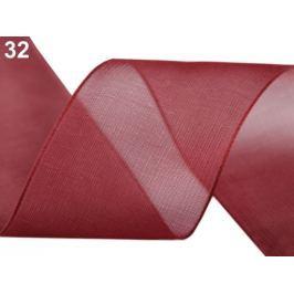Monofilová stuha zväzky po 5 m šírka 40 mm bordó sv. 300m Stoklasa