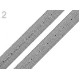 Guma dierková šírka 20 mm šedá perlovo 30m Stoklasa