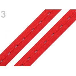 Guma dierková šírka 20 mm červená tm 30m Stoklasa