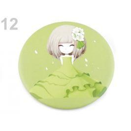 Kozmetické zrkadielko zelená sv. 1ks Stoklasa