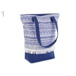 Textilná taška Boho 34x38 cm modrá tm. 1ks Stoklasa