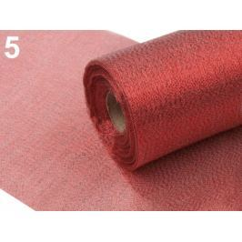 Dekoračná metráž šírka 36 cm s lurexom červená rumelka 9m