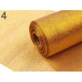 Dekoračná metráž šírka 36 cm s lurexom zlatá tmavá 27m