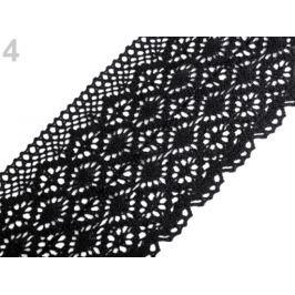 Bavlnená čipka paličkovaná šírka 110 - 120 mm čierna 40.5m Stoklasa