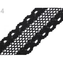 Čipka / vsádka paličkovaná šírka 50 mm čierna 13m Stoklasa