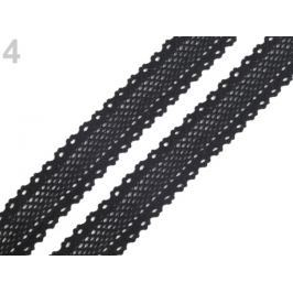 Čipka / vsádka paličkovaná šírka 34 mm čierna 67.5m Stoklasa