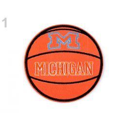 Nažehlovačka z eko kože basketbalová lopta mrkvová 1ks Stoklasa