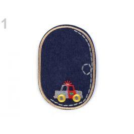 Nažehlovačka / záplata riflová auto hnedá sv. 10ks Stoklasa
