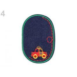 Nažehlovačka / záplata riflová auto zelená pastelová 10ks Stoklasa