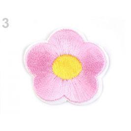 Nažehlovačka vyšívaný kvet ružová sv. 10ks Stoklasa