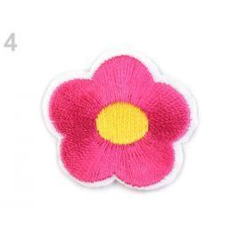 Nažehlovačka vyšívaný kvet malinová 400ks Stoklasa