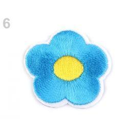 Nažehlovačka vyšívaný kvet modrá azurová 400ks Stoklasa