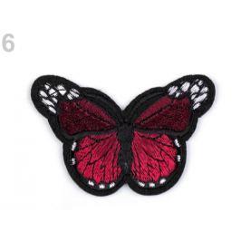 Nažehlovačka motýľ granátová 1ks Stoklasa