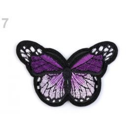 Nažehlovačka motýľ fialová purpura 1ks Stoklasa