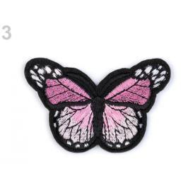 Nažehlovačka motýľ ružová str. 120ks Stoklasa