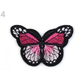 Nažehlovačka motýľ malinová 120ks Stoklasa