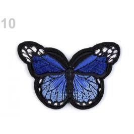 Nažehlovačka motýľ modrá safírová 120ks Stoklasa