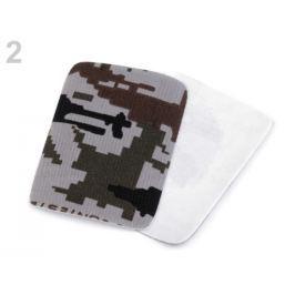Nažehlovacie záplaty maskáčové  5,3x7,9 cm šedá holubia sv. 60ks Stoklasa