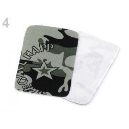 Nažehlovacie záplaty maskáčové  5,3x7,9 cm zelenkavá 300ks Stoklasa