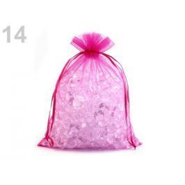 Darčekové vrecúško 20x26 cm organza fialovoružová 10ks Stoklasa