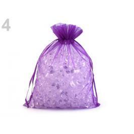 Darčekové vrecúško 20x26 cm organza fialová purpura 10ks Stoklasa