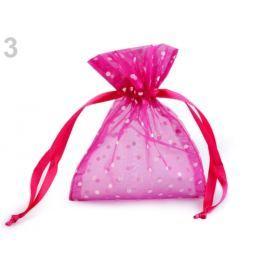 Darčekové vrecúško 10x13 cm organza s bodkami fialovoruž refl. 10ks Stoklasa